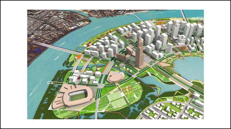 Khu chức năng số 2 là một phức với chức năng thương mại, dân cư đa chức năng và thể thao giải trí.