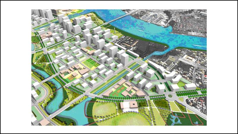 Khu chức năng số 4 là khu dân cư hỗn hợp nằm ở phía Bắc Thủ Thiêm
