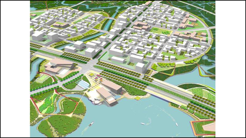 Khu chức năng số 5 bao gồm khu công trình công cộng, khu dân cư và các công trình thương mại.