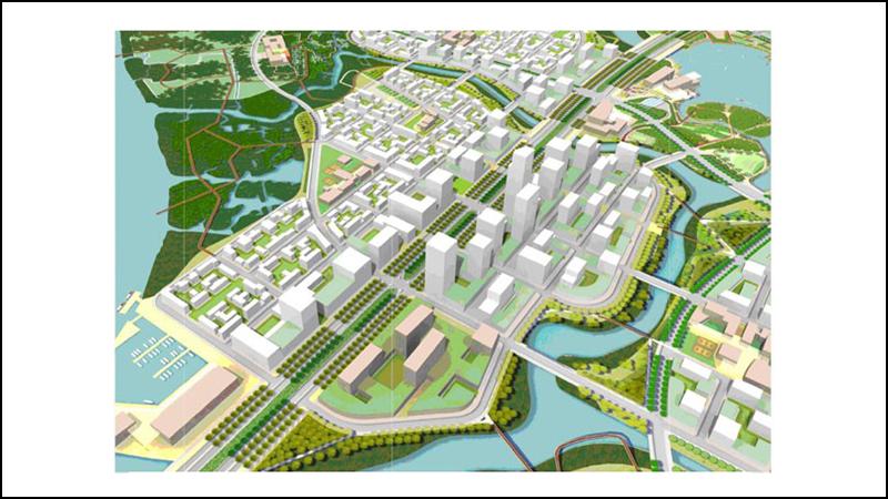 Khu chức năng số 6 là khu vực nằm các kênh rạch tự nhiên của bán đảo Thủ Thiêm dọc theo Đại lộ Đông Tây.