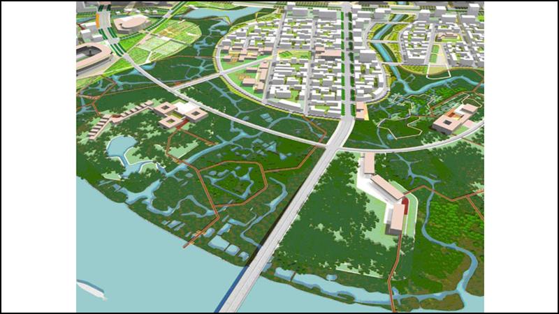 Khu chức năng số 8 là khu sinh thái ngập nước ở phía Nam